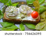 sandwich with homemade sausage  ... | Shutterstock . vector #756626395