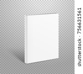 blank thin book vector mockup.... | Shutterstock .eps vector #756631561