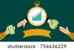 an illustration of a quick pays ... | Shutterstock .eps vector #756636229