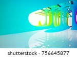 abstract white and colored... | Shutterstock . vector #756645877