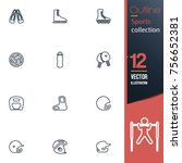 sport vector collection icon set | Shutterstock .eps vector #756652381