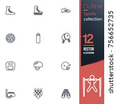 sport vector collection icon set | Shutterstock .eps vector #756652735