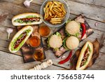 concept of eating outdoors....   Shutterstock . vector #756658744