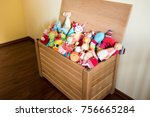 Toy Box Full Of Soft Toys In A...