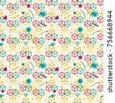 modish seamless pattern design  ... | Shutterstock .eps vector #756668944