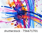 abstract watercolor texture.... | Shutterstock . vector #756671701