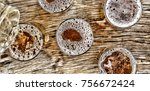 pouring beer.glasses with beer...   Shutterstock . vector #756672424