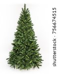 christmas tree isolated  ... | Shutterstock . vector #756674515