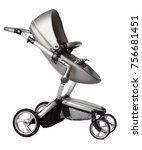 baby carriage isolated on a... | Shutterstock . vector #756681451