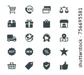 e commerce glyph icons | Shutterstock .eps vector #756695581