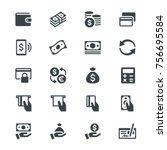 money glyph icons | Shutterstock .eps vector #756695584