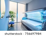 tanning bed in a modern beauty... | Shutterstock . vector #756697984