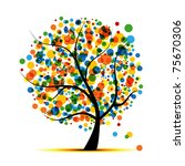 abstract tree for your design   Shutterstock .eps vector #75670306