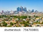 los angeles  california  usa...   Shutterstock . vector #756703801