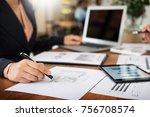 administrator business man... | Shutterstock . vector #756708574