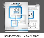 business brochure vector flyer... | Shutterstock .eps vector #756715024