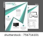 business brochure vector flyer... | Shutterstock .eps vector #756716101