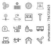 thin line icon set   gear  sun... | Shutterstock .eps vector #756721825