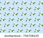 jasmine   vector image   hand... | Shutterstock .eps vector #756728125