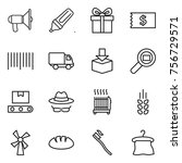 thin line icon set  ... | Shutterstock .eps vector #756729571