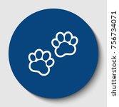 animal tracks sign. vector....   Shutterstock .eps vector #756734071