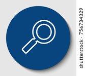 zoom sign illustration. vector. ...   Shutterstock .eps vector #756734329