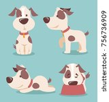 vector illustration of cute and ... | Shutterstock .eps vector #756736909