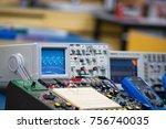 equipment in learning of... | Shutterstock . vector #756740035