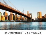 new york  usa. view of... | Shutterstock . vector #756743125