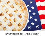 as american as apple pie as the ... | Shutterstock . vector #75674554