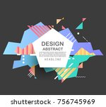 abstract geometric pattern... | Shutterstock .eps vector #756745969