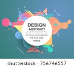 abstract geometric pattern... | Shutterstock .eps vector #756746557