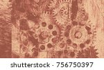 abstract background with... | Shutterstock .eps vector #756750397