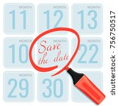save the date note made by...   Shutterstock .eps vector #756750517