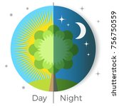 day and night conceptual vector ...   Shutterstock .eps vector #756750559