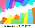 pieces of colored torn paper on ... | Shutterstock . vector #756751735