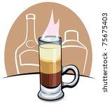 cocktail b 52   Shutterstock .eps vector #75675403