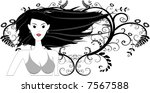 vector   girl in bikini posing... | Shutterstock .eps vector #7567588