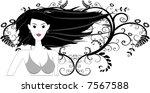 vector   girl in bikini posing... | Shutterstock .eps vector #7567588