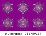 for christmas design. purple ... | Shutterstock . vector #756759187