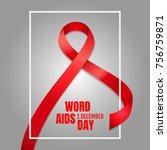 banner  december 1  world aids... | Shutterstock .eps vector #756759871