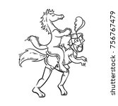 playful illustration in bdsm... | Shutterstock .eps vector #756767479