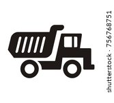 truck icons collection | Shutterstock .eps vector #756768751