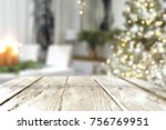 a nice christmas tree with a... | Shutterstock . vector #756769951