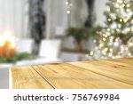 a nice christmas tree with a... | Shutterstock . vector #756769984