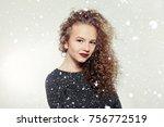 winter  christmas  people ... | Shutterstock . vector #756772519