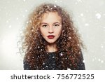 youth and beauty concept  ... | Shutterstock . vector #756772525