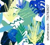 creative hand drawn textures.... | Shutterstock .eps vector #756782827