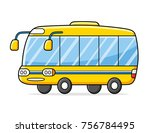 yellow bus isolated | Shutterstock .eps vector #756784495