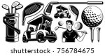 Golf Vector Clipart With...
